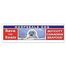 Boycott Canadian Seafood Bumper Bumper Sticker