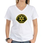 Orange Sheriff Women's V-Neck T-Shirt
