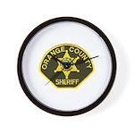 Orange Sheriff Wall Clock