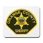 Orange Sheriff Mousepad