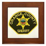 Orange Sheriff Framed Tile