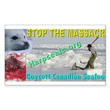 Stop the Massacre - 3 Rectangle Decal