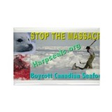 Stop the Massacre - 3 Rectangle Magnet
