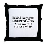 Cute Ice skate Throw Pillow