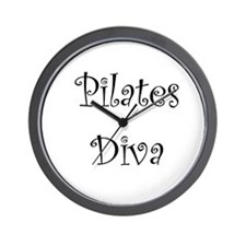 Pilates Diva Wall Clock