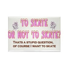 To Skate or Not Rectangle Magnet
