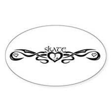 Tribal Skate Oval Decal