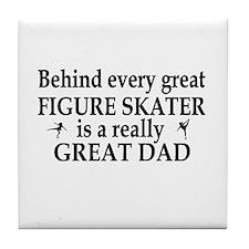 Funny Sports dad Tile Coaster