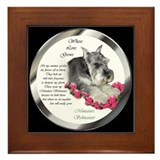 Miniature Schnauzer Framed Tile