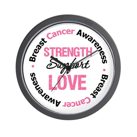 BreastCancerSupport Wall Clock