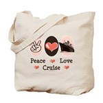 Peace Love Cruise Tote Bag