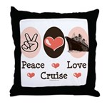 Peace Love Cruise Throw Pillow