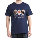 Peace Love Cruise Dark T-Shirt