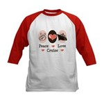 Peace Love Cruise Kids Baseball Jersey