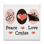 Peace Love Cruise Tile Coaster