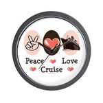 Peace Love Cruise Wall Clock