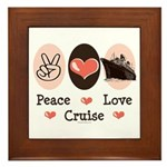 Peace Love Cruise Framed Tile