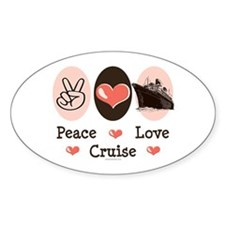 Peace Love Cruise Oval Decal
