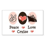Peace Love Cruise Rectangle Sticker 10 pk)