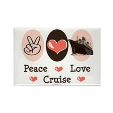 Peace Love Cruise Rectangle Magnet (100 pack)