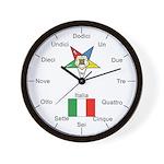 OES Italian Language Wall Clock