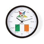 Irish OES Wall Clock