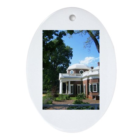 Monticello, Virginia Oval Ornament