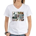 Twenty Pigeon Heads Women's V-Neck T-Shirt