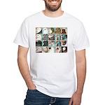 Twenty Pigeon Heads White T-Shirt