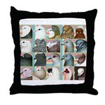 Twenty Pigeon Heads Throw Pillow