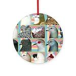 Twenty Pigeon Heads Ornament (Round)