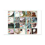 Twenty Pigeon Heads Mini Poster Print