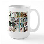 Twenty Pigeon Heads Large Mug