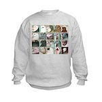Twenty Pigeon Heads Kids Sweatshirt