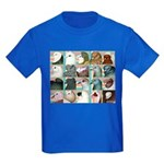 Twenty Pigeon Heads Kids Dark T-Shirt