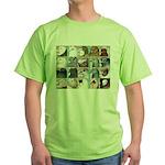 Twenty Pigeon Heads Green T-Shirt