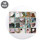 """Twenty Pigeon Heads 3.5"""" Button (10 pack)"""