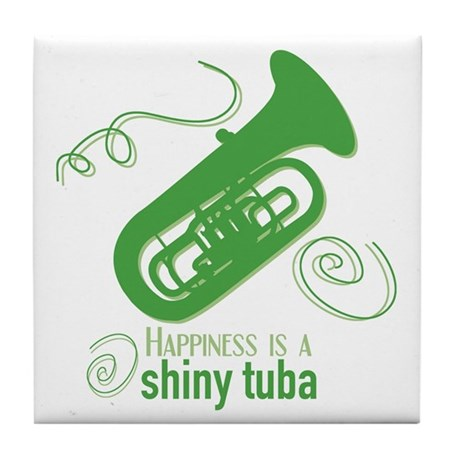 Shiny Tuba Tile Coaster