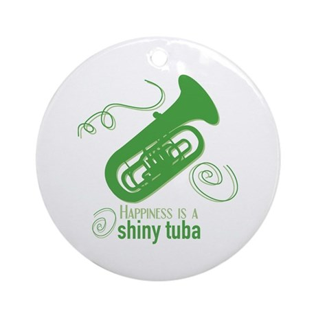 Shiny Tuba Ornament (Round)