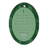 P&P Quote Oval Ornament