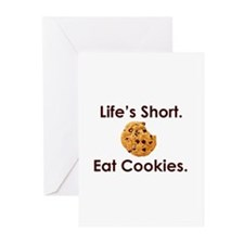 Life's Short. Eat Cookies. Greeting Cards (Pk of 2