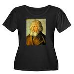 Holzochu Women's Plus Size Scoop Neck Dark T-Shirt