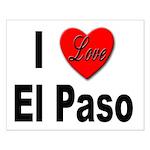 I Love El Paso Texas Small Poster