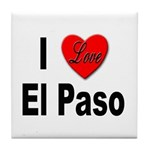 I Love El Paso Texas Tile Coaster