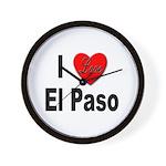 I Love El Paso Texas Wall Clock