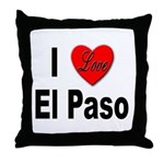 I Love El Paso Texas Throw Pillow