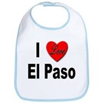 I Love El Paso Texas Bib