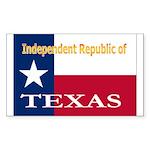 Texas-4 Rectangle Sticker 50 pk)
