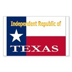 Texas-4 Rectangle Sticker