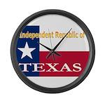 Texas-4 Large Wall Clock